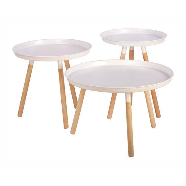 Sticks 3 db-os fehér tárolóasztal szett - Nørdifra