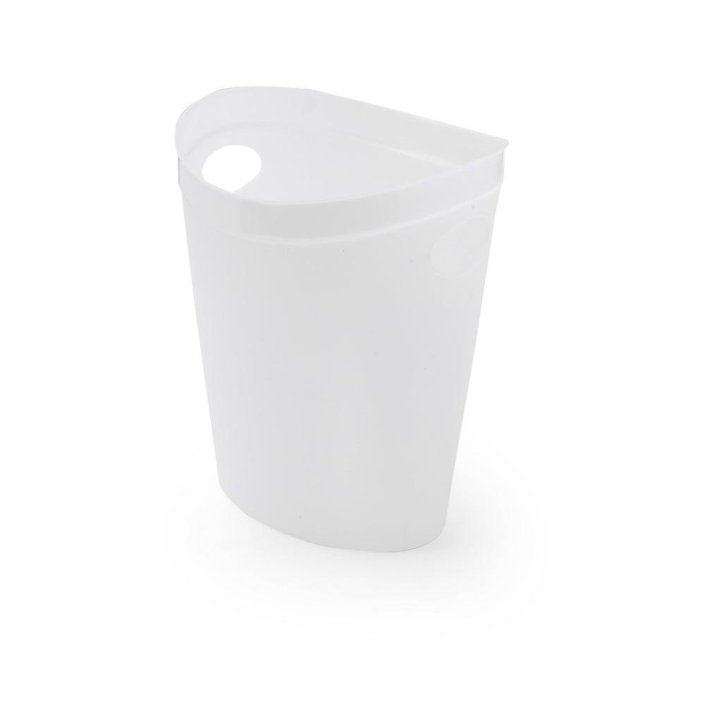 Bílý odpadkový koš na papír Addis Flexi, 27 x 26 x 34 cm