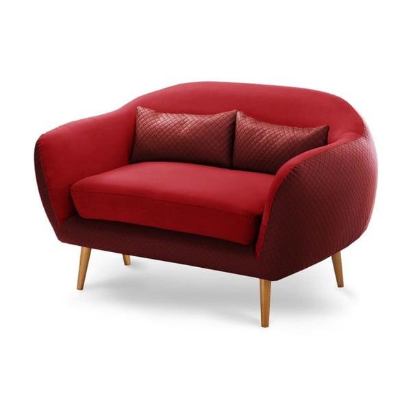 Canapea pentru 2 persoane Meteore, roșu/ roșu