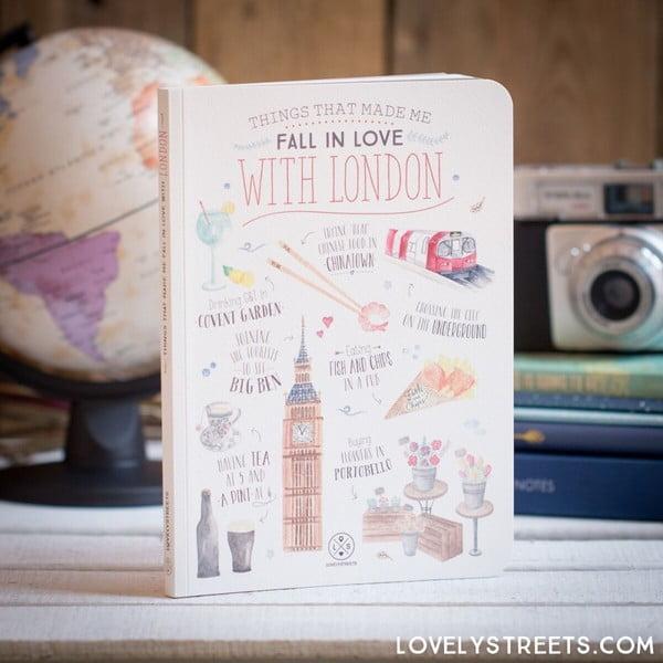 Poznámkový blok Mr. Wonderful London, 160 stran
