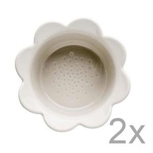 Sada 2 béžových misek Sagaform Piccadilly Květinky, 13x6,5cm