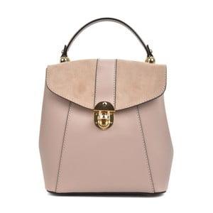 Růžový kožený batoh Isabella Rhea Milesso