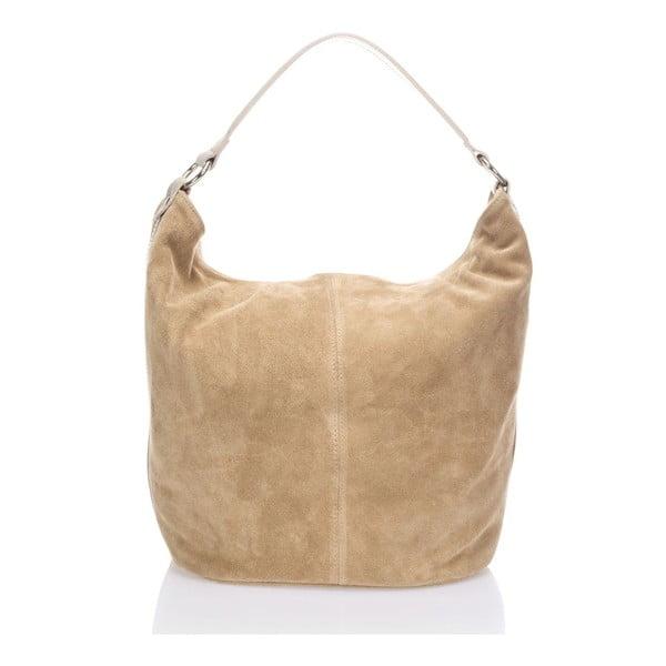 Béžová kožená kabelka Krole Kim