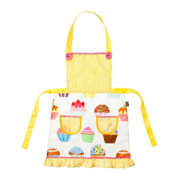Dětská kuchyňská zástěra s čepcem Vigar Yellow