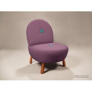 Křeslo Dodue Berjer, fialová/tyrkysová
