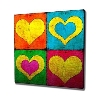 Tablou pe pânză Color Hearts, 45 x 45 cm
