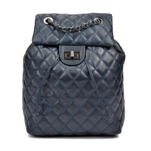 Tmavě modrý dámský kožený batoh Anna Luchini Magnarro
