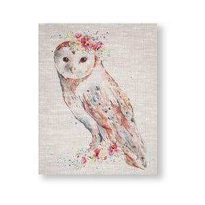 Obraz Graham & Brown Watercolour Floral Owl, 40 x 50 cm