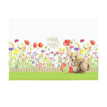 Set 2 suporturi pentru farfurie Apolena Easter Eggs With Rabbit, 33 x 45 cm de la Apolena