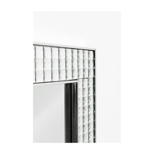 Nástěnné zrcadlo Kare Design Crystals Chrome, 80x60cm