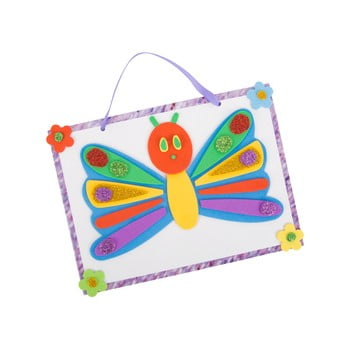 Set pentru confecționare imprimeu pernă pentru copii Legler Caterpillar