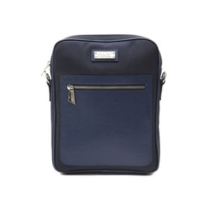 Tmavě modrá kožená pánská taška přes rameno Alviero Martini Ruhno