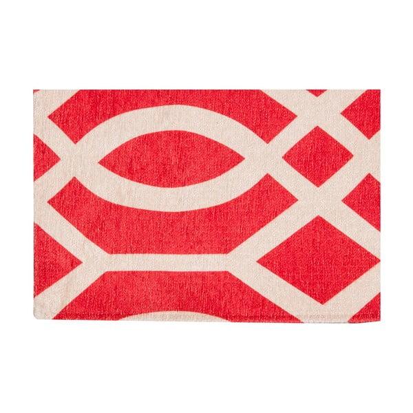 Vysoce odolný kuchyňský koberec Webtappeti Wallpaper Coral Red,80x130cm