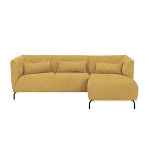 Canapea cu 3 locuri HARPER MAISON Sonja, pe partea dreaptă, galben