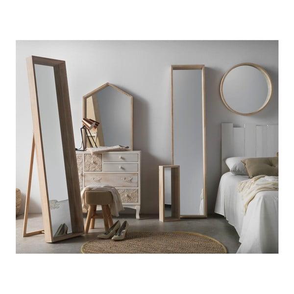 Nástěnné zrcadlo ze dřeva paulovnie Geese Pure, 60x90cm