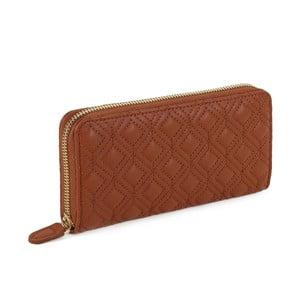 Oranžovo-hnědá peněženka z koženky Laura Ashley Beagle