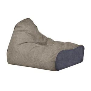 Menší pískový sedací vak s modrým detailem Poufomania Sunset