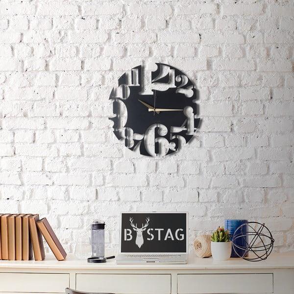 Kovové nástenné hodiny Modern, 50×50 cm