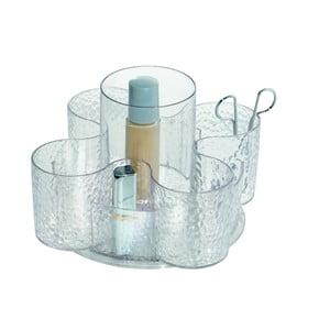 Transparentní kosmetický organizér iDesign Rain Petal, 14x22cm