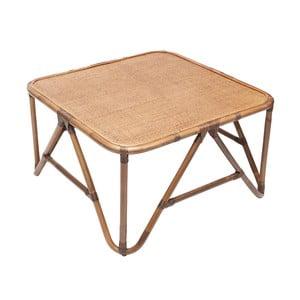 Ratanový konferenční stolek RGE Sismondi, 87 x 87 cm