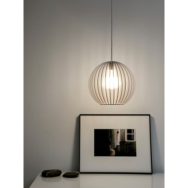 Svítidlo Aion - bílý odstín, bílý kabel
