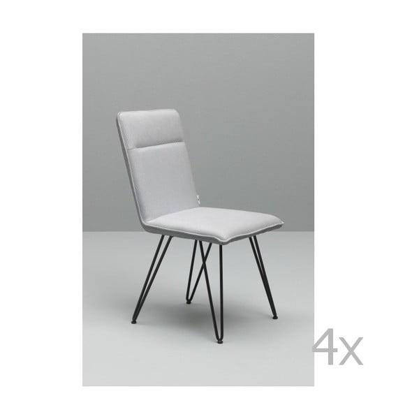 Elice fehér étkezőszék fekete lábakkal, 4 db - Design Twist