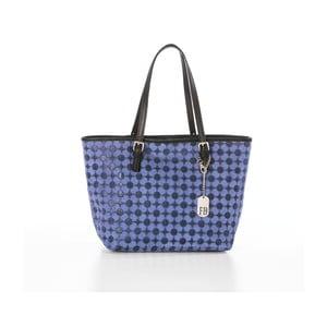 Modrá kožená kabelka Federica Bassi Margherita