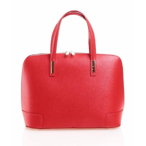 Kožená kabelka Olga, červená
