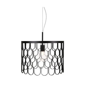 Černé závěsné svítidlo GlobenLighting Gatsby, ø45cm