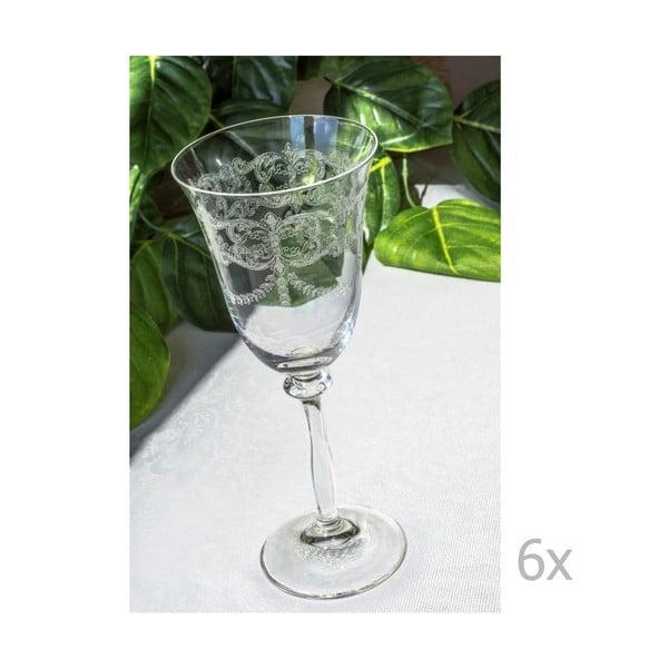 Set 6 pahare din sticlă Floros, 250 ml