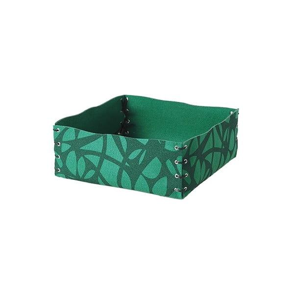 Plstěná krabička 12x6 cm, zelená