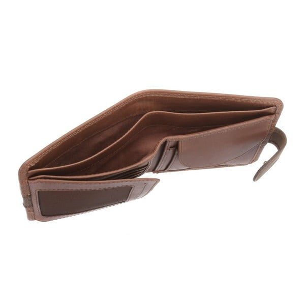 Kožená peněženka Evan Conker Brown