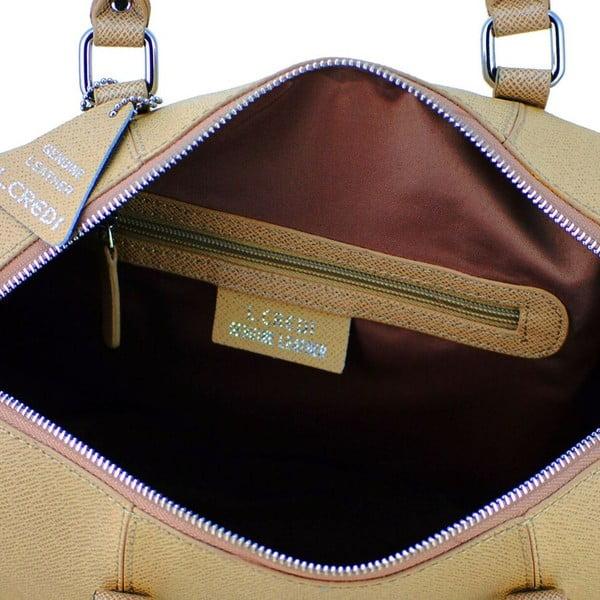 Kožená kabelka Sissi Light/Taupe