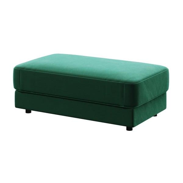 Tmavě zelená podnožka devichy Laure, 112x60cm
