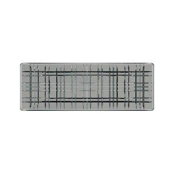 Tavă pătrată pentru servit din cristal Nachtmann Square Plate Smoke, lungime 42 cm, gri de la Nachtmann