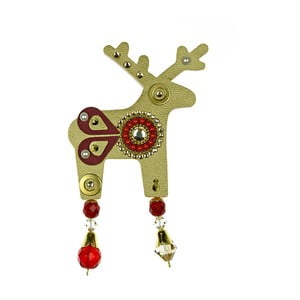Broșă Deers Bessie, 7 cm, auriu