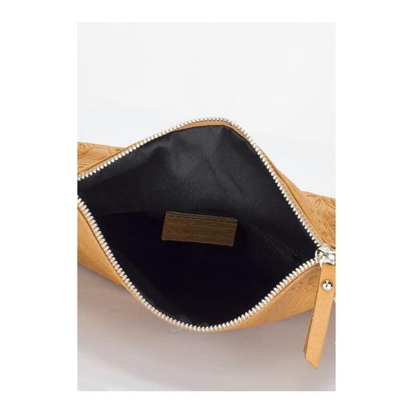 Kožená kabelka Markese 6948 Cognac