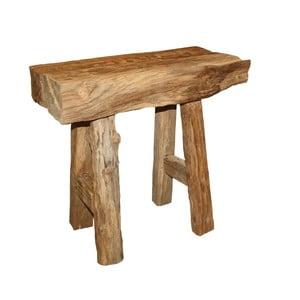 Taburet din lemn de tec HSM Collection Rustic