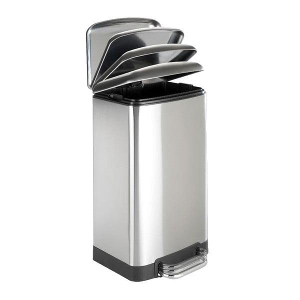 Stříbrný odpadkový koš Wenko, 30l