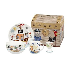 Set de masă copii Churchill China Pirates, 4 buc.