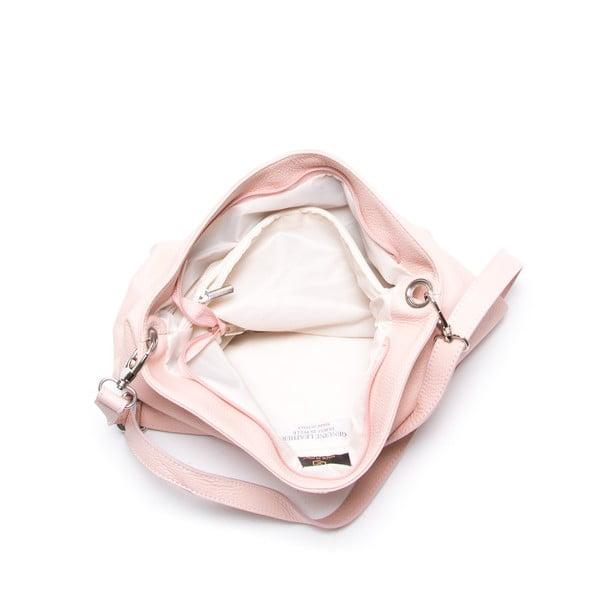 Kožená kabelka Luisa Vanini 1029, růžová