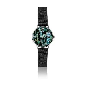 Dámské hodinky s páskem z nerezové oceli v černé barvě Emily Westwood Garden