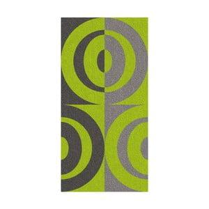 Ručník Ladessa, zelené kruhy, 70x140 cm