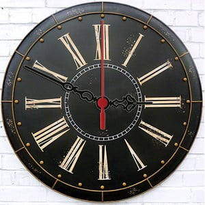 Nástěnné hodiny Dark Vintage, 30 cm