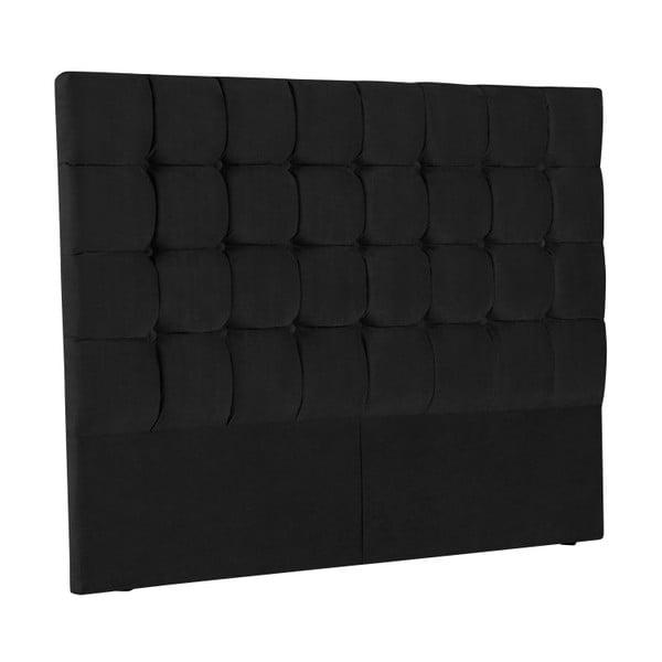 Černé čelo postele Kooko Home Hasso, 120 x 160 cm