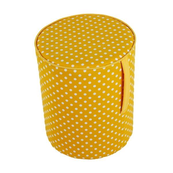 Kulatý puf Pois, žlutý vzorek
