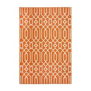 Oranžový koberec Nourison Baja Talara, 229 x 160 cm