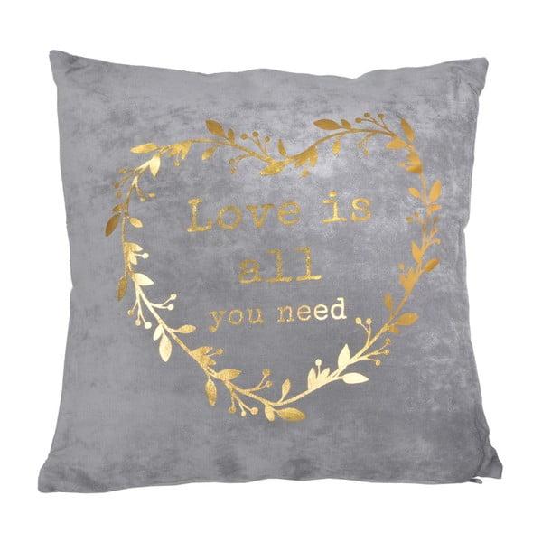 Polštář s výplní Golden Heart, 45x45 cm