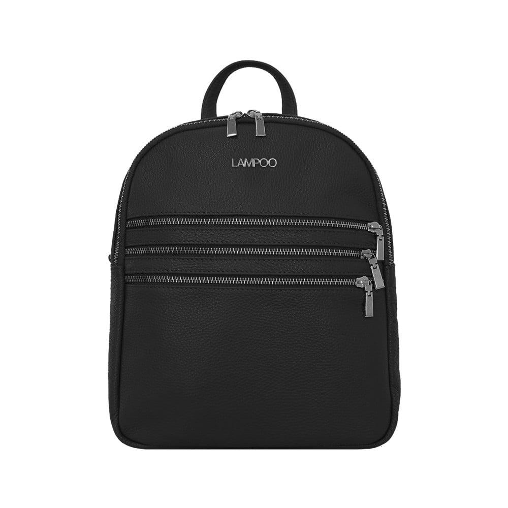 Černý kožený batoh Lampoo Kato
