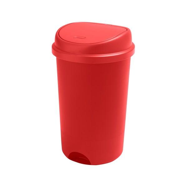 Coș de gunoi cu capac Addis, înălțime 64,5 cm, roșu